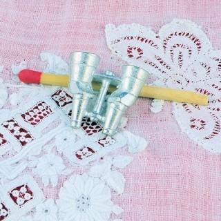 Lunettes métal miniature, breloque, pendentif, miniature poupée, 2,2cm.