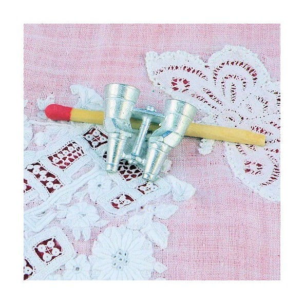 Miniature binoculars doll house 2 cms