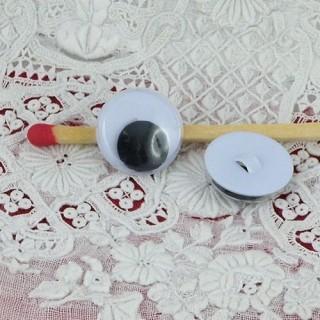 Yeux peluche mobiles àcoudre 12 mm
