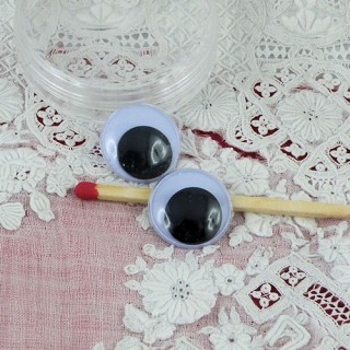Bewegliche Augen Plüsch zu kleben 15 mm
