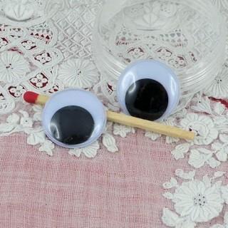 Ojos móviles que deben clavarse felpa 18 mm.