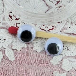 Bewegliche Augen Plüsch zu kleben 8 mm