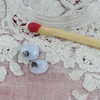 Ojos móviles que deben clavarse felpa 6 mm
