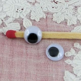 Ojos móviles que deben clavarse felpa 7 mm