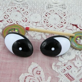 Comical eyes with metal washer 2 cm