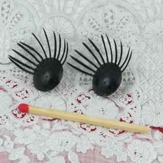 Doll eyelashes Plastic 13 mms