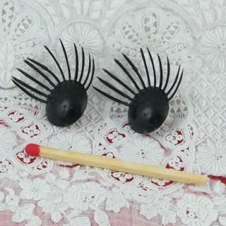 Doll eyelashes Plastic 13 mms