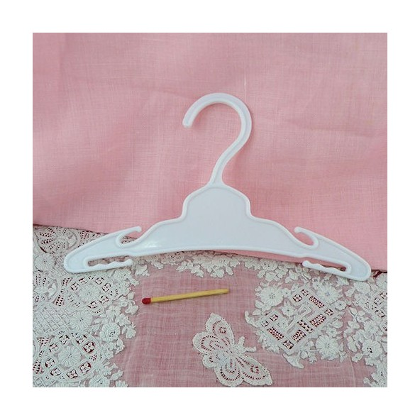 Plastic hanger doll miniature clothes 18 cms.
