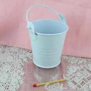 White vintage pail 7 cm