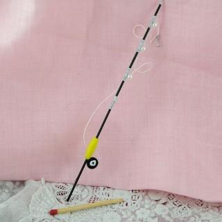 Miniature Mini fishing pole for dollhouse