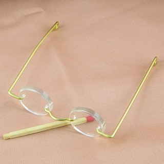 Brillen Miniaturpuppe Metall 6 cm.