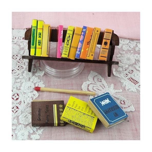 1:12-4 livres miniatures pour feuilles et étiqueter