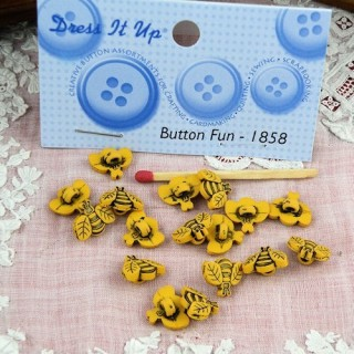 Boutons abeilles miniatures Dress it up