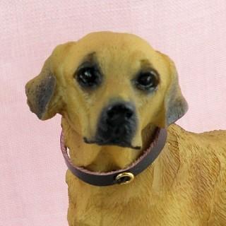 Plastic Labrador dog dollhouse animal miniature 7 cm,