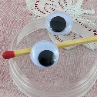 Ojos móviles que deben clavarse felpa 12 mm.