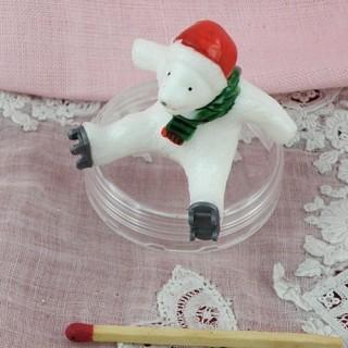 Ours Père Noël miniature maison poupée