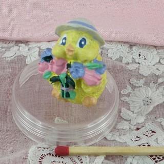 Pollito juguete miniatura casa muñeca 2 cm