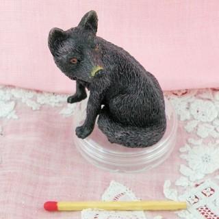 Zorro miniatura en plástico casa muñeca, 5 cm.
