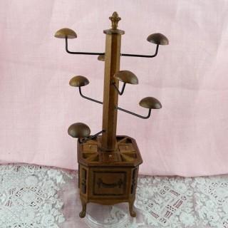 Exhibición de sombrero de la casa de la muñeca miniatura 16 cm