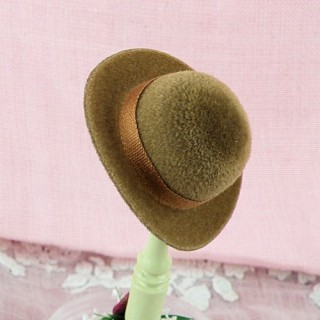 Miniature derby hat for doll 1/12