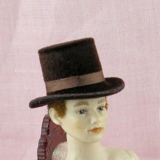 Sombrero de miniatura casa de muñecas 1/12,