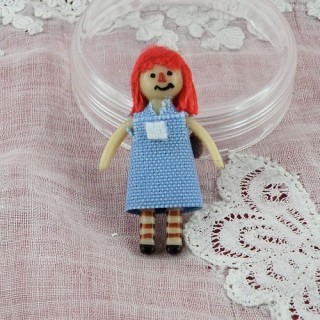 Rag doll miniature for dollhouse