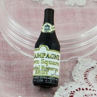 Flasche kleiner Champagne Haus Puppe
