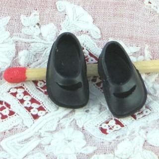 Par miniatura zapatos para niños muñeca 1/12 17 mm
