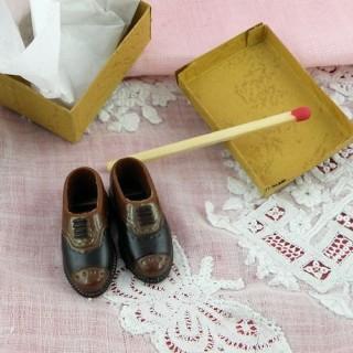 Shoes miniatures for doll miniature man 3 cm..