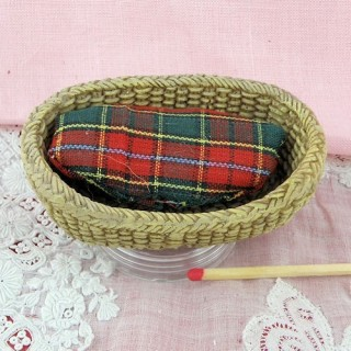 Miniature dog basket 1/12