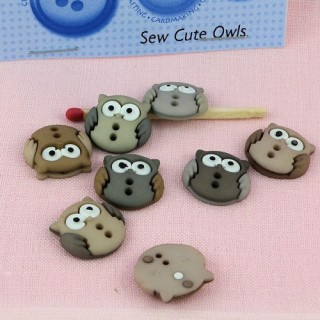 Buttons Dress It Up forest animals: owls