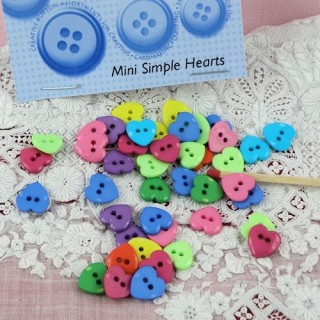 Heart button two holes Dress it up 1 cm.