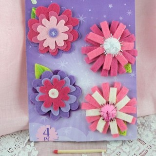 Felt flowers embellishments