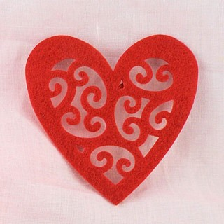 Felt heart embellishments