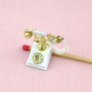 Rücktelephon Miniaturpuppenhaus 2 cm.