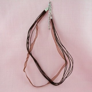 Necklace cord with ribbon 45 cms