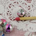 Perles ronde irisée iridescente en verre 7 mm.