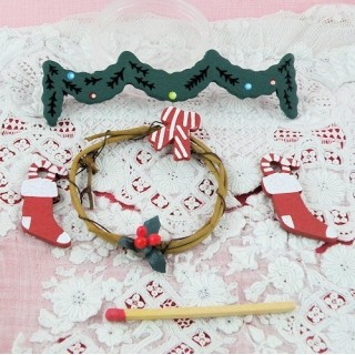 Decorations wooden Christmas miniatures