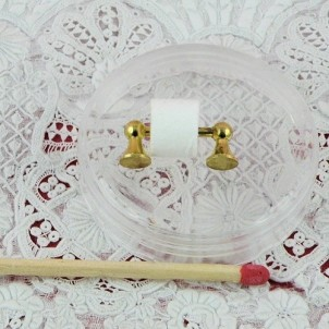 Toilet roll holder miniature for doll house
