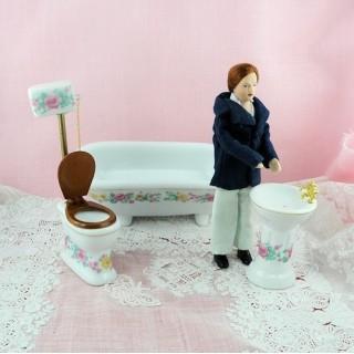 Waschgelegenheiten Miniaturbad Puppenhaus.