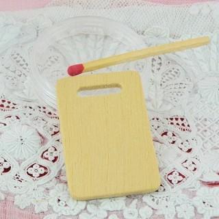 Miniature dollhouse wooden Cutting board