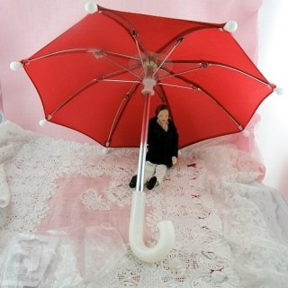 Miniature Umbrella for doll, 25 cms