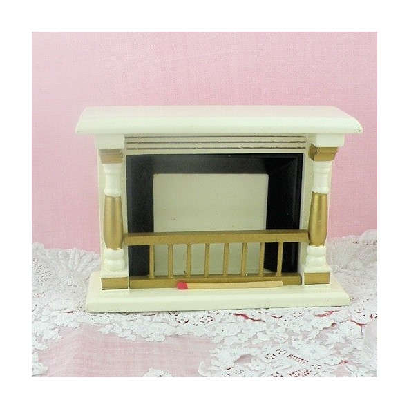 Vintage fireplace doll house miniature furniture