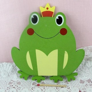 Wooden painted frogg 12 cms children decoration
