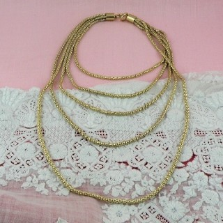 Silver rope necklace bottom 25 cms