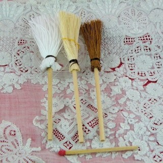Flat strow round broom mops 9 cms