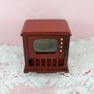 Vintage Television or radio furniture dollhouse miniature