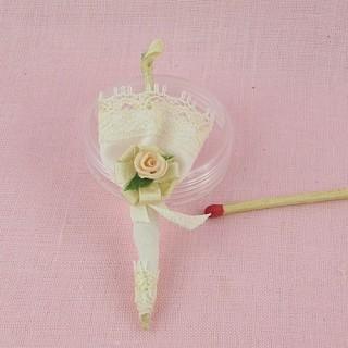 Ombrelle miniature décorative poupée 1/12