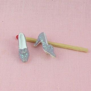 Zapatos miniatura decoración tienda, 2 cm