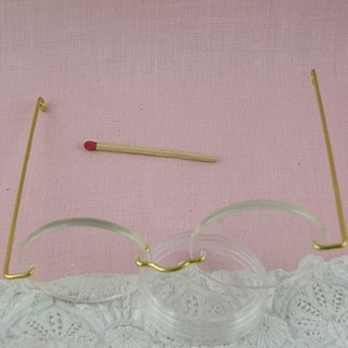 Miniature doll Glasses small size 9 cm.